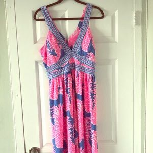 Lilly Pulitzer NWT Taryn Pineapple Maxi Dress Sz14